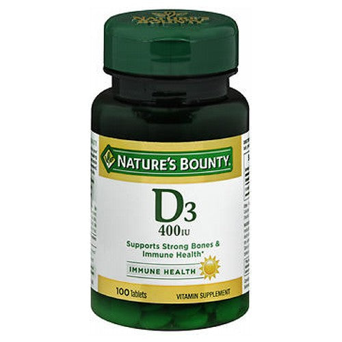 Natures Bounty Vitamin D 100 tabs by Nature's Bounty Guaranteed QualityHealthy You. Healthy Earth.Laboratory Tested Vitamin Supplement