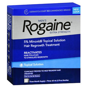Rogaine Mens Extra Strength Hair Regrowth Treatment Unscented 3 X 2 oz