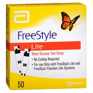 Freestyle Lite Blood Glucose Test Strips - 50 each