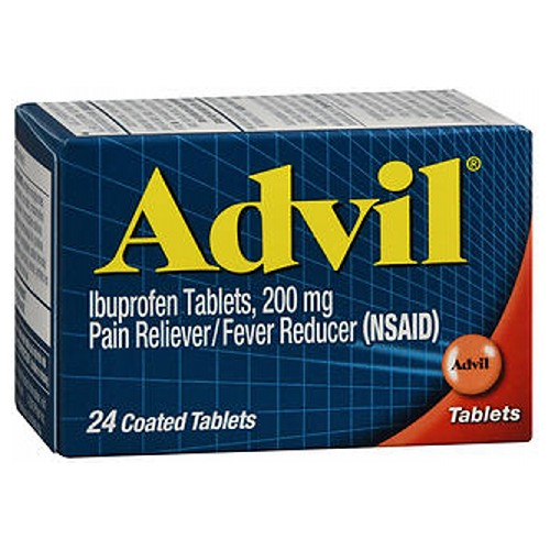 Advil Pain Reliever And Fever Reducer Coated Tablets 24 tabs by Advil Pain Reliever / Fever Reducer (NSAID)* Coated Tablets