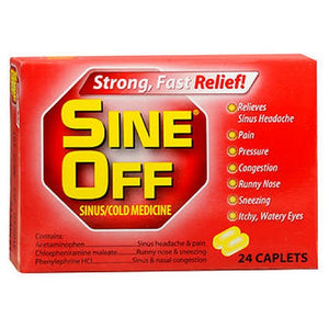 Sine-Off Sinus/Cold Medicine Caplets 24 each