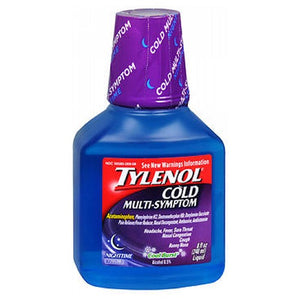 Tylenol Cold Multi-Symptom Liquid Nighttime Cool Burst 8 Oz
