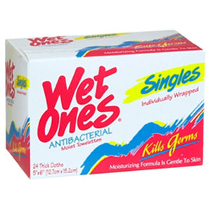 Wet Ones Wipes Anti Bacterial Towelettes - 24 Each
