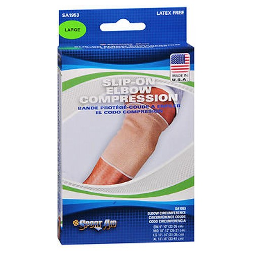 Sport Aid Slip-On Elbow Compression Large each by Scott Specialties