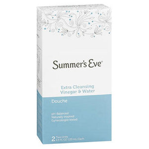 Summers Eve Extra Cleansing Vinegar Water Douche Summers - 2 X 4.5 oz