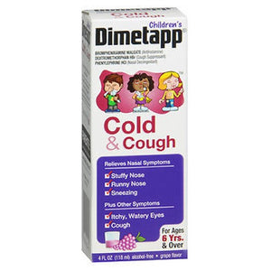 Dimetapp Dm Elixir Childrens Cold Cough Liquid - Grape Flavor 4 oz