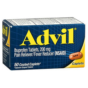 Advil Pain Reliever And Fever Reducer - 50 Caplets