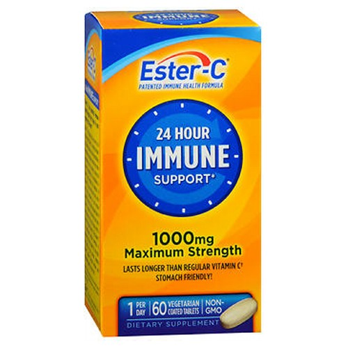 Ester-C Vitamin C Coated Tablets 60 tabs by Ester-C Vitamin SupplementNon Acidic Stomach FriendlyAntioxidant Support*Potential Vitamin C-Formula