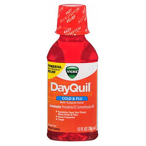 Vicks Dayquil Cold Flu Multi-Symptom Relief Liquid 12 oz