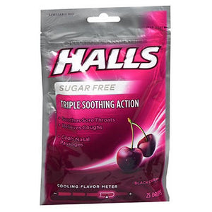 Halls Cough Drops Sugar Free - Black Cherry 25 Each