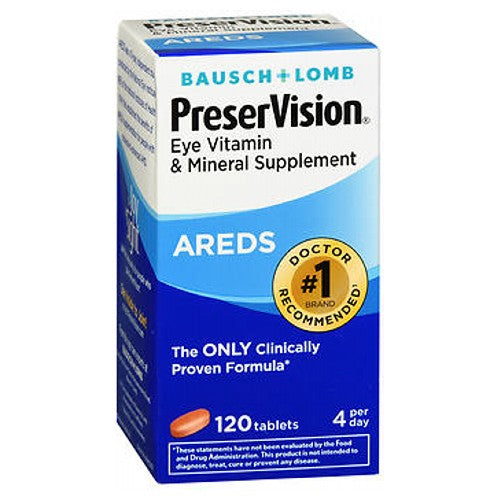 Bausch And Lomb Ocuvite Preservision Tablets 120 tabs by Bausch And Lomb Helps preserve eye health. Preservision is the #1 eye vitamin and mineral supplement brand among retina specialists.
