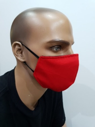 Plain Cloth Face Mask for Adult (Pack of 5) - Red