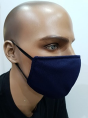 Plain Cloth Face Mask for Adult (Pack of 10) - Navy