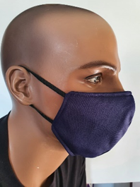 Plain Cloth Face Mask pack of 5 for Adult - Dark Blue