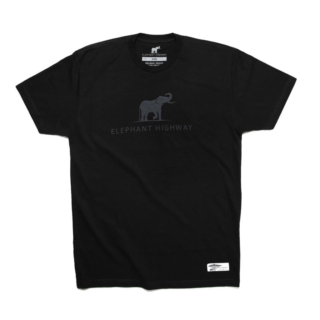 Vintage Black Logo Tee - Elephant Highway