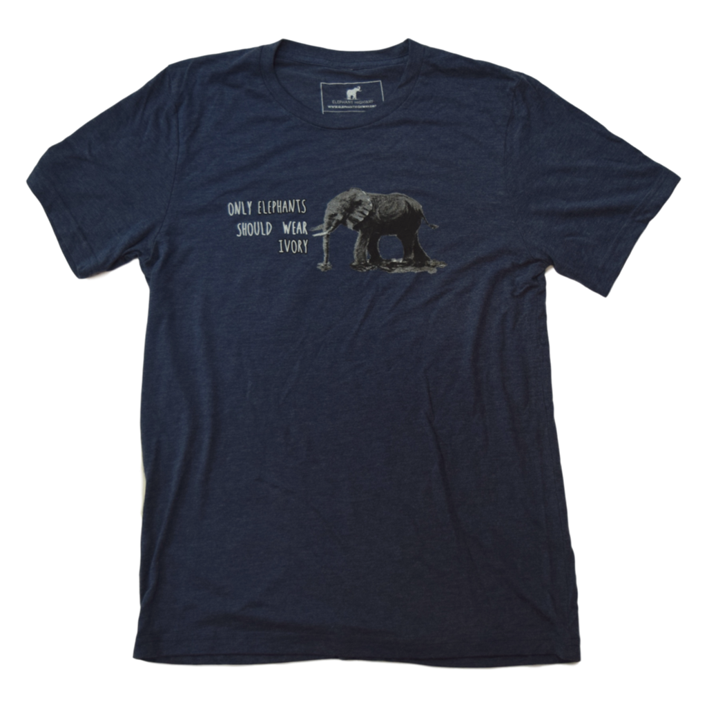 Elephants and Ivory Tee (Blue Heather Unisex)