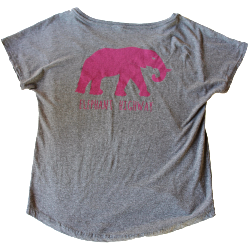 Scoop Neck Tee - Elephant Highway  - 1