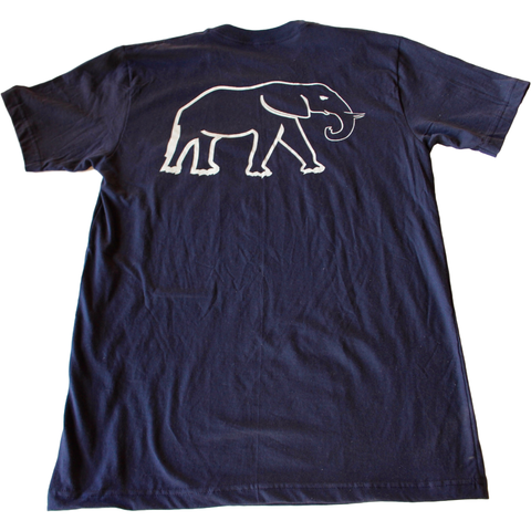 Navy Pocket Tee - Elephant Highway