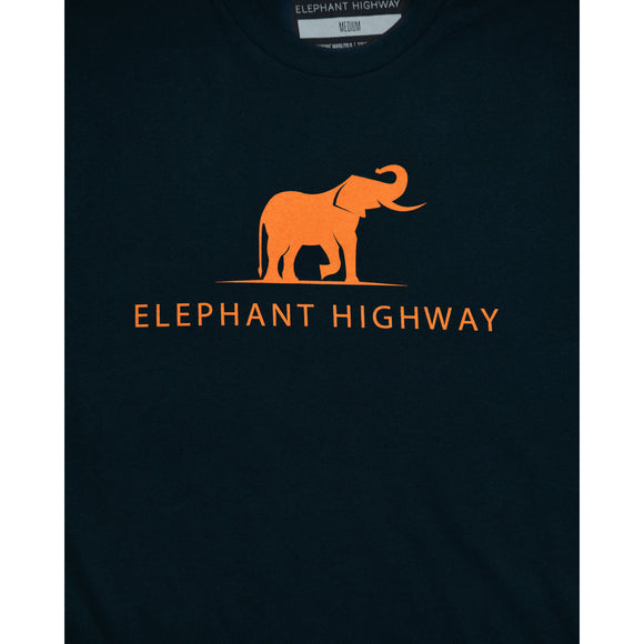 Navy Logo Tee - Elephant Highway