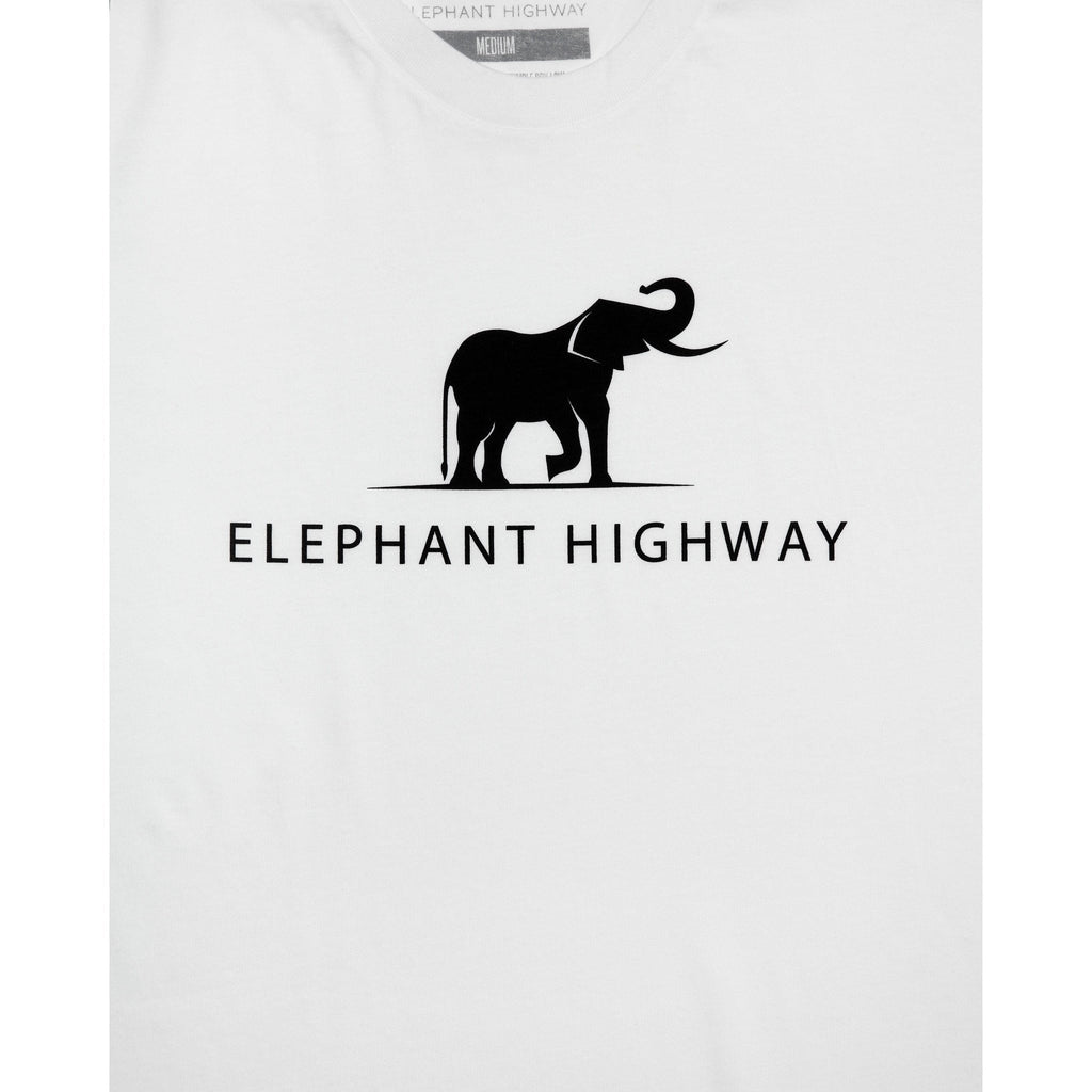 Vintage White Logo Tee - Elephant Highway