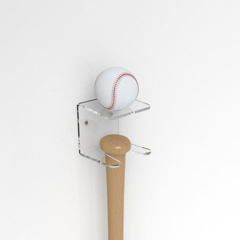 Wall Mount Vertical Baseball Bat &l Ball Holder