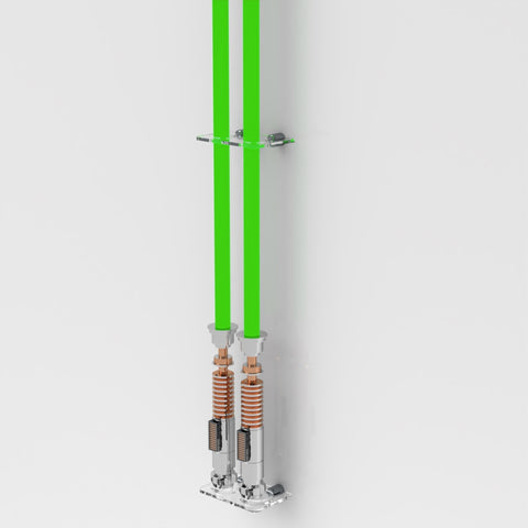 Wall Mount Double Lightsaber Wall Rack