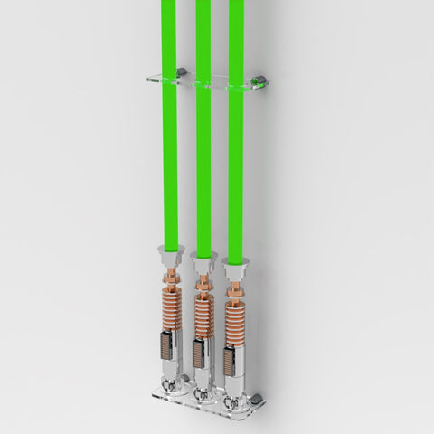 Wall Mount Triple Lightsaber Wall Rack