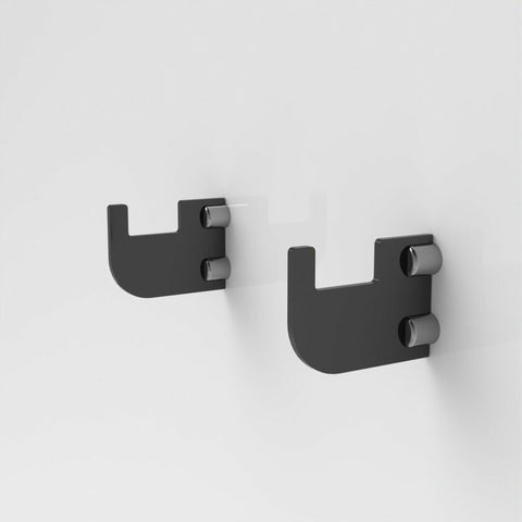 Flat Wall Mount Rifle Brackets - Black