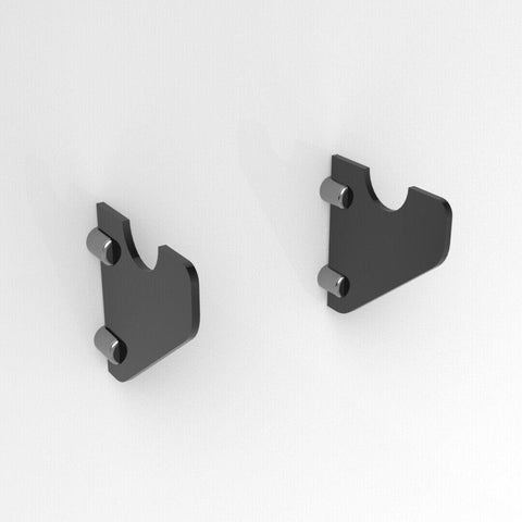 Flat Premium Rifle Brackets - Black