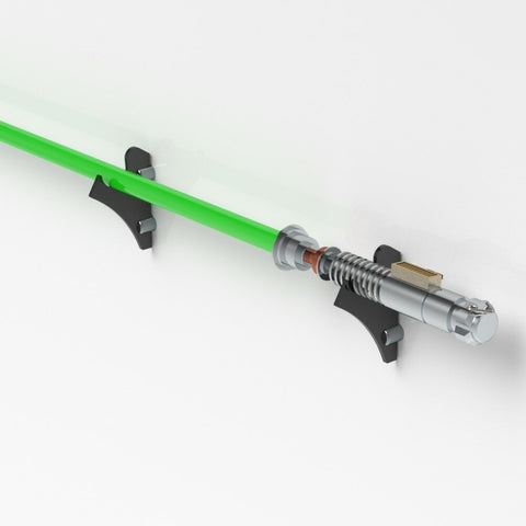 Flat Lightsaber Wall Rack/ Star Wars Force FX Lightsaber - Black