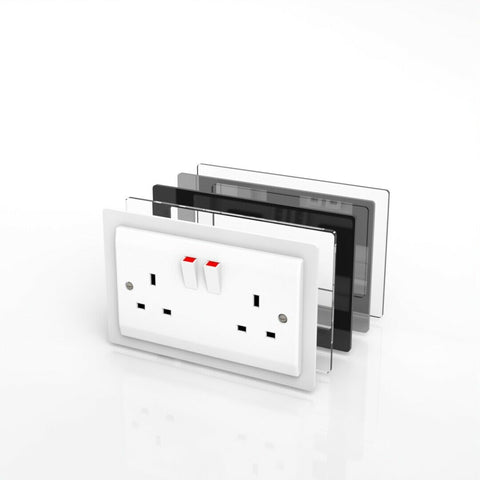 Double - Single Socket Switch Surround - Minimalist