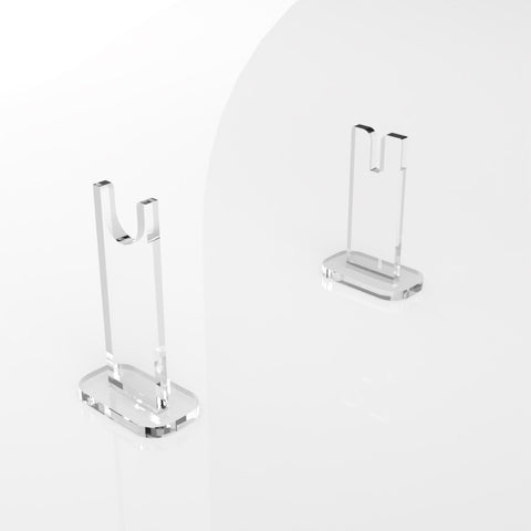 Clear Acrylic Pair Knife Display Stand - With Base