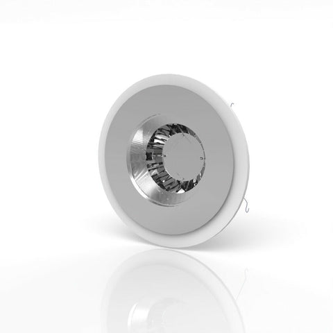 White & Silver Downlight Spotlight Surround Bezel Converter - Solid