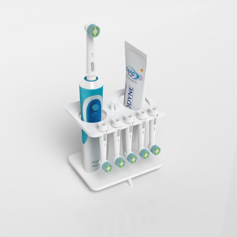Toothbrush & Toothpaste Holder With Toothbrush Head Holder