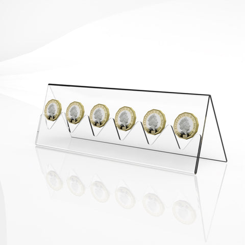 Coin Display Rack / Coin Collector Holder / Clear Acrylic Coin Display Stand