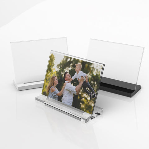 Modern Acrylic Photo Frame - Freestanding
