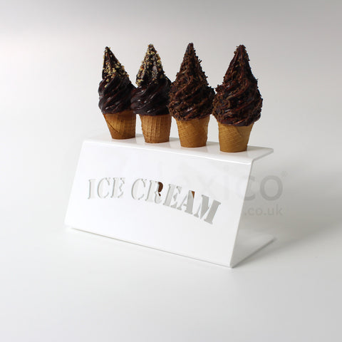 White Acrylic Ice Cream Cone Holder