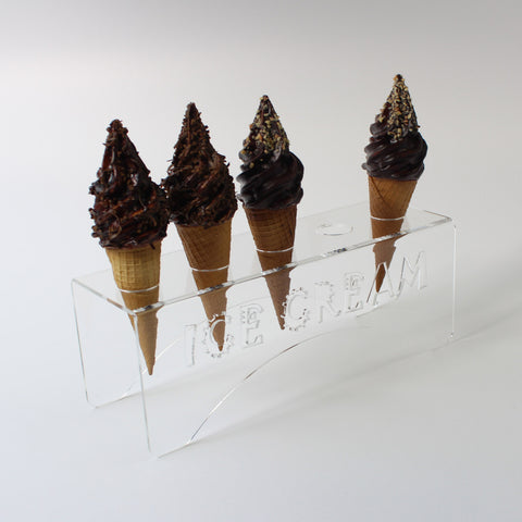 Acrylic Ice Cream Cone Holder - 5 Hole