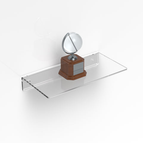 Acrylic Shelf / Contemporary Modern Clear Acrylic Shelf - Bendi