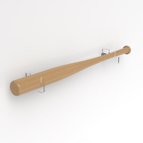 Wall Mounted Horizontal Baseball Bat Brackets