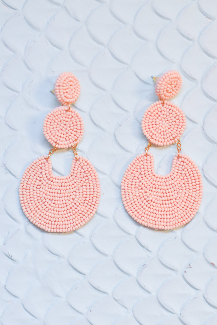 Drop It Low Earrings Blush