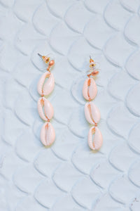 Triple Shell Drop Earrings