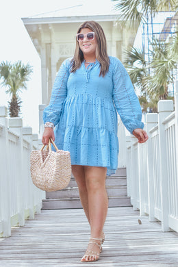 Shore Thing Dress Blue