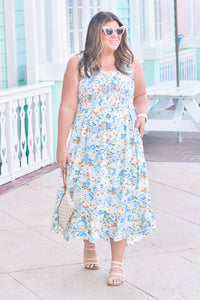 Walk in the Park Dress Mint Blue