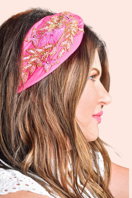 Bead It Headband Pink