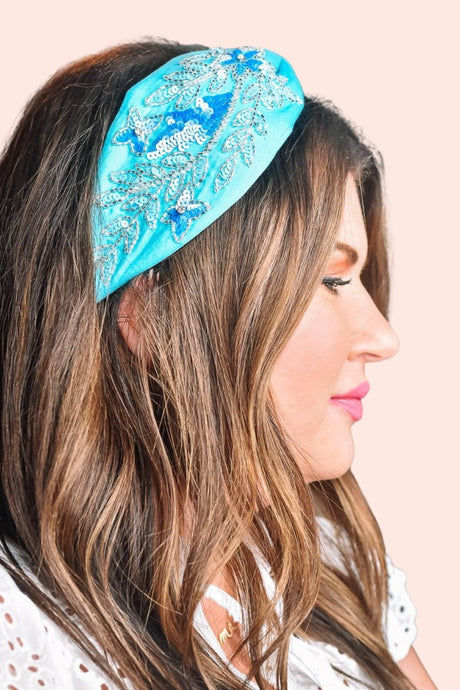 Bead It Headband Turquoise