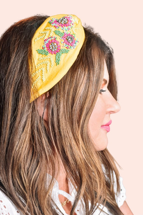 Bead It Headband Yellow