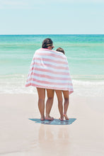 Load image into Gallery viewer, Blush Stripe Beach Towel