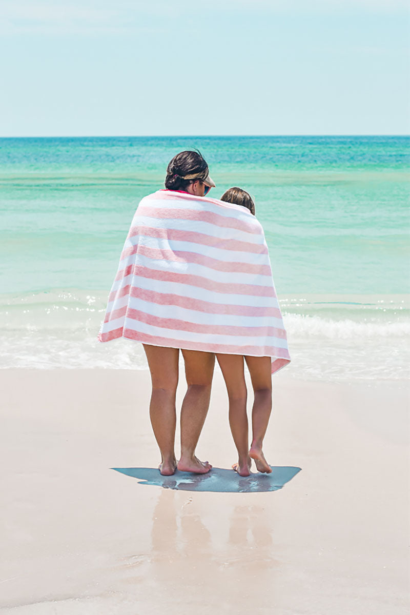 Blush Stripe Beach Towel