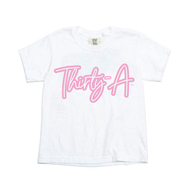 Kids White & Pink Thirty-A Tee